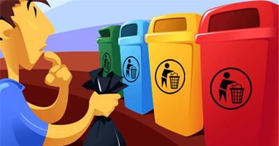 as cores da reciclagem