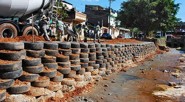 barreira de pneus