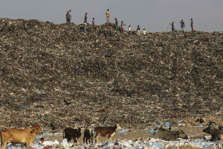Montanhas de lixo