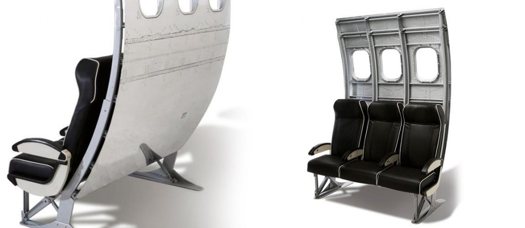 reciclagem transforma  avião em móveis