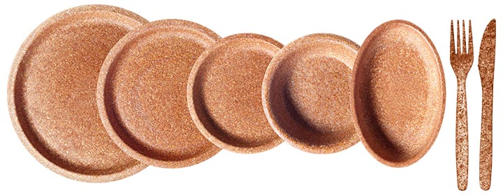 prato biodegradável contra plásticos descartáveis